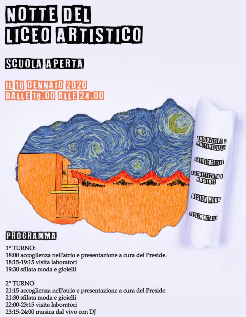 Manifesto Notte del Liceo Artistico 2020
