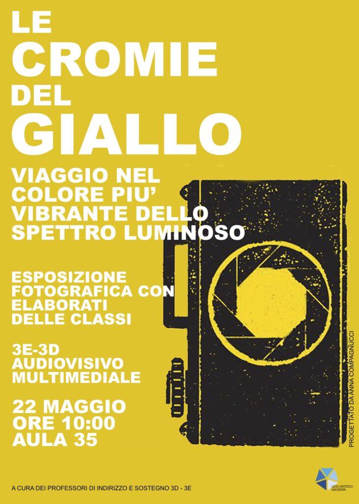 Manifesto Mostra fotografica Giallo
